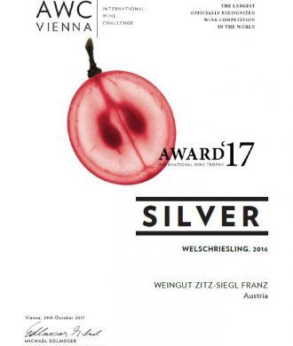 AWC Award 17 Welschriesling