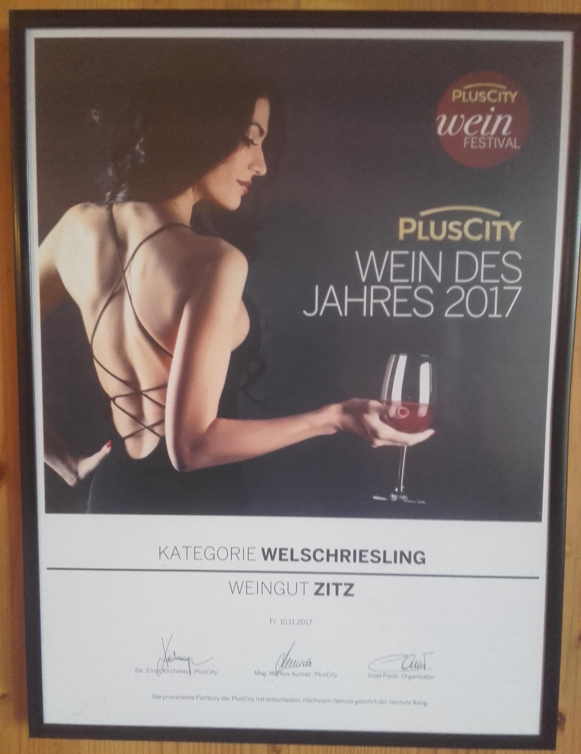 Wein Des Jahres 2017-Welschriesling