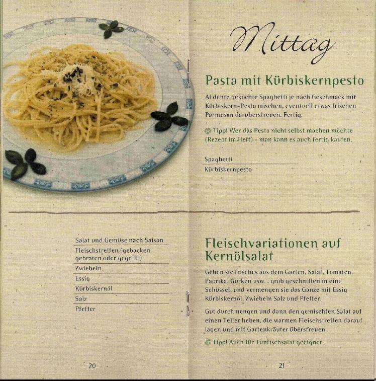 Kochen Mit Kernöl Seite20-21