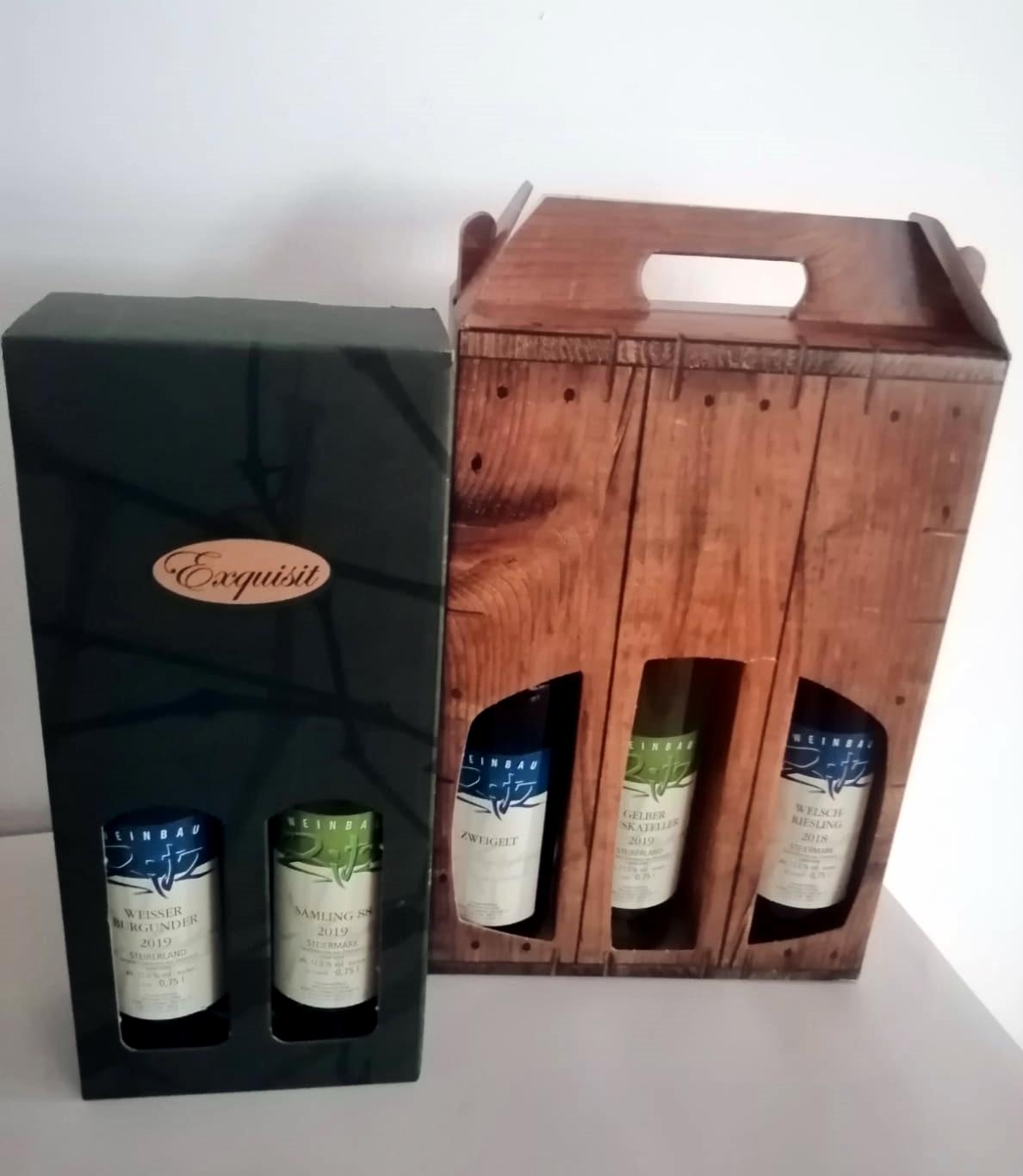 Weinkartons 2020 2er, 3er Geschenk
